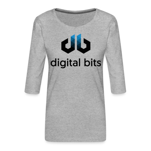 digitalbits Logo mit Schriftzug - Frauen Premium 3/4-Arm Shirt