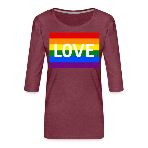 LOVE RETRO T-SHIRT - Dame Premium shirt med 3/4-ærmer
