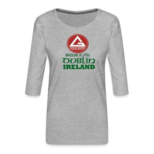 Gracie Barra Dublin Gaelic Celtic Font PNG - Women's Premium 3/4-Sleeve T-Shirt