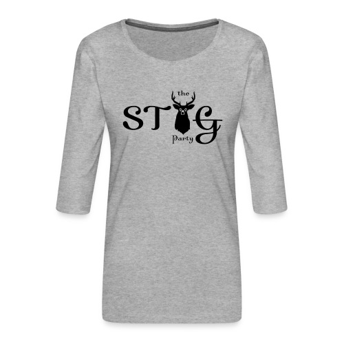 THE STAG PARTY - Women's Premium 3/4-Sleeve T-Shirt