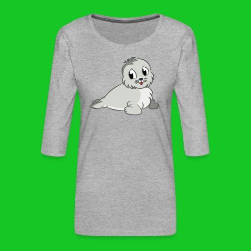 Zeehondje - Vrouwen premium shirt 3/4-mouw