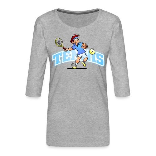 Tennis IV txt fc - Women's Premium 3/4-Sleeve T-Shirt