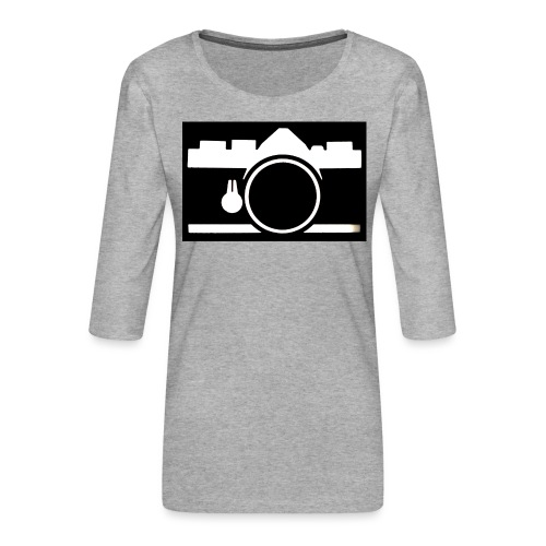 Vintage Camera - Maglietta da donna premium con manica a 3/4