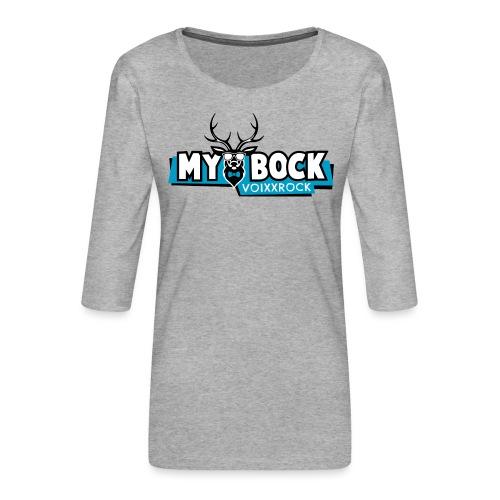 MYBOCK Logo - Frauen Premium 3/4-Arm Shirt