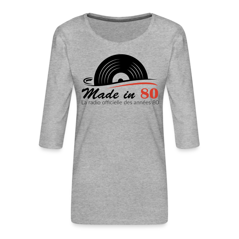 Made in 80 - T-shirt Premium manches 3/4 Femme