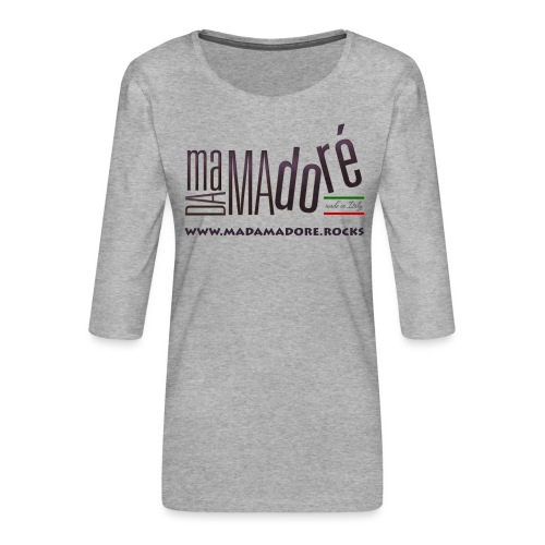 T-Shirt Premium - Uomo- Logo S Standard + Sito - Maglietta da donna premium con manica a 3/4