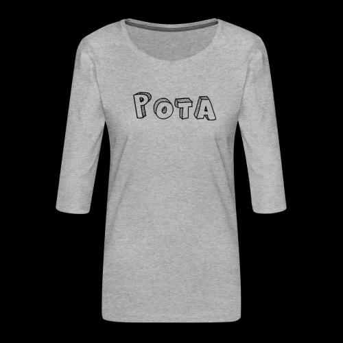 pota1 - Maglietta da donna premium con manica a 3/4