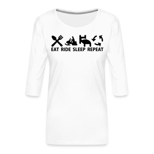 Snöskoter (Sled) - Premium-T-shirt med 3/4-ärm dam