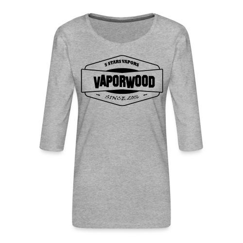 VaporwoodLogo - Frauen Premium 3/4-Arm Shirt