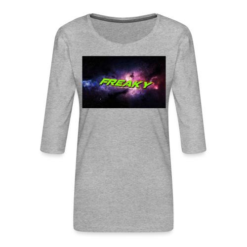Freaky Mussemåtte - Dame Premium shirt med 3/4-ærmer
