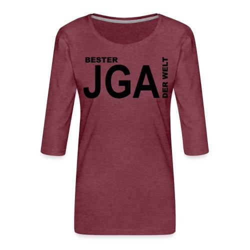 Bester JGA der Welt - Frauen Premium 3/4-Arm Shirt