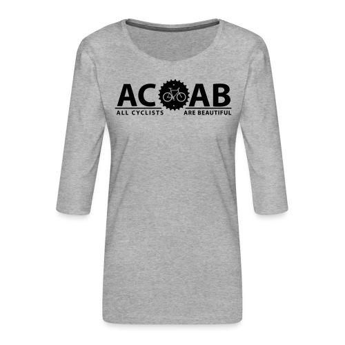 ACAB ALL CYCLISTS - Frauen Premium 3/4-Arm Shirt