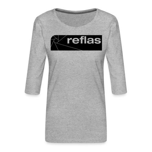 Reflas Clothing Black/Gray - Maglietta da donna premium con manica a 3/4