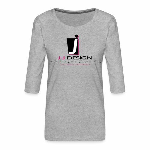 LOGO_J-J_DESIGN_FULL_for_ - Dame Premium shirt med 3/4-ærmer