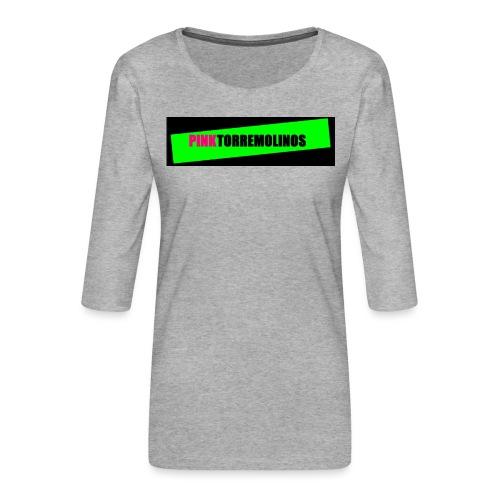 pinklogo - Vrouwen premium shirt 3/4-mouw