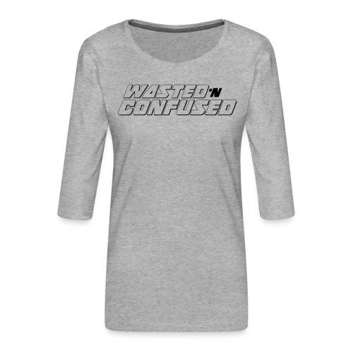 OFFICIAL WNC MERCHANDISE (wit) - Vrouwen premium shirt 3/4-mouw