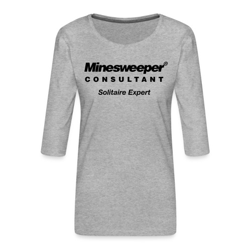 minesweeper - Frauen Premium 3/4-Arm Shirt