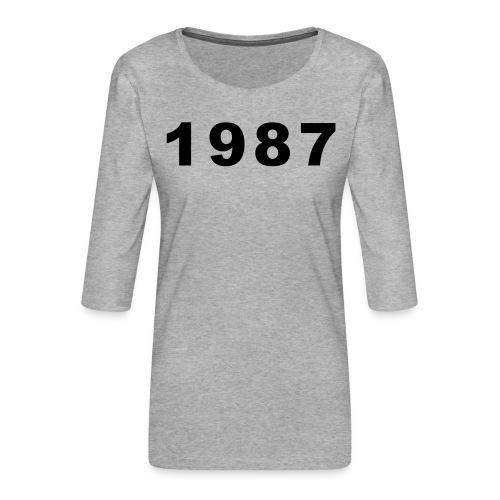 1987 - Vrouwen premium shirt 3/4-mouw