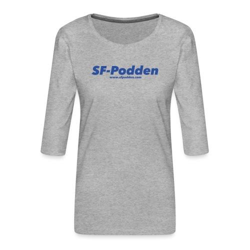 Skrift med web - Premium T-skjorte med 3/4 erme for kvinner
