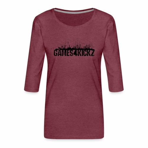 Games4Kickz Logo 002 - Women's Premium 3/4-Sleeve T-Shirt