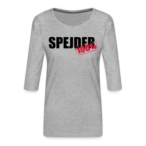 100procent spejder stempel - Dame Premium shirt med 3/4-ærmer