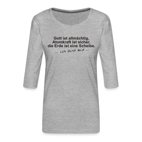 gottistallmaechtig - Frauen Premium 3/4-Arm Shirt