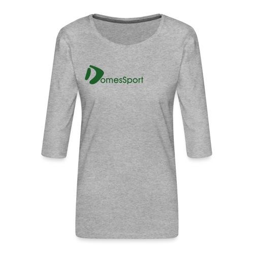 Logo DomesSport Green noBg - Frauen Premium 3/4-Arm Shirt