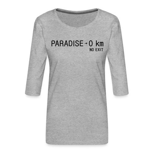 paradise0km - Frauen Premium 3/4-Arm Shirt