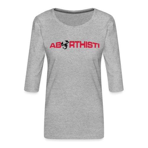 abarthisti no url - Premium T-skjorte med 3/4 erme for kvinner