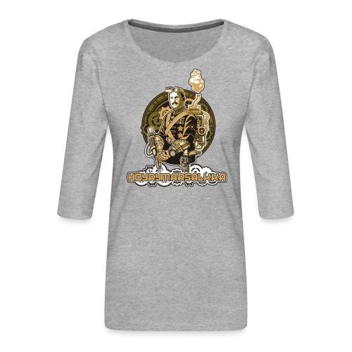 Höyrymarsalkan upea naisten T-paita - Naisten premium 3/4-hihainen paita
