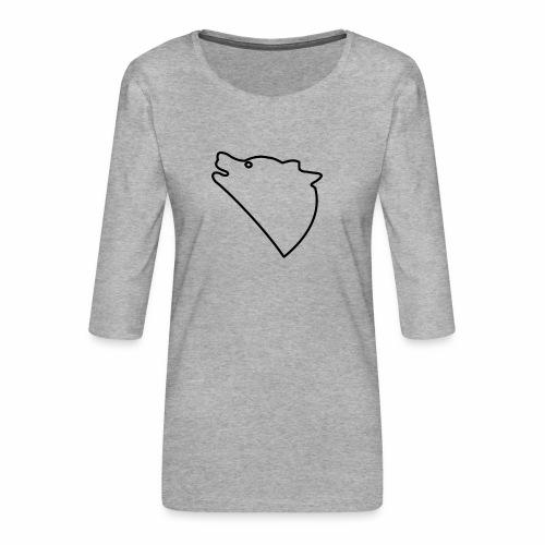 Wolf baul logo - Vrouwen premium shirt 3/4-mouw