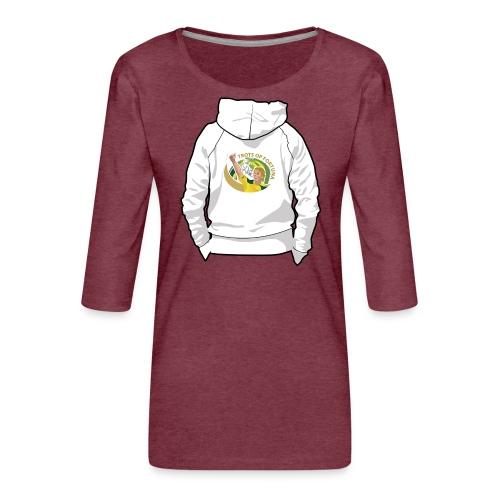 hoodyback - Vrouwen premium shirt 3/4-mouw