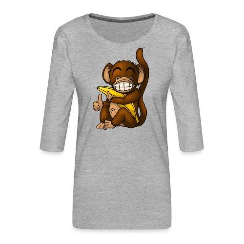 Super Fröhlicher Affe - Frauen Premium 3/4-Arm Shirt