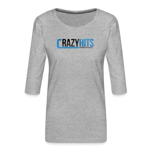CrazyHIT - T-shirt Premium manches 3/4 Femme