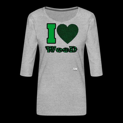 I Love weed - T-shirt Premium manches 3/4 Femme