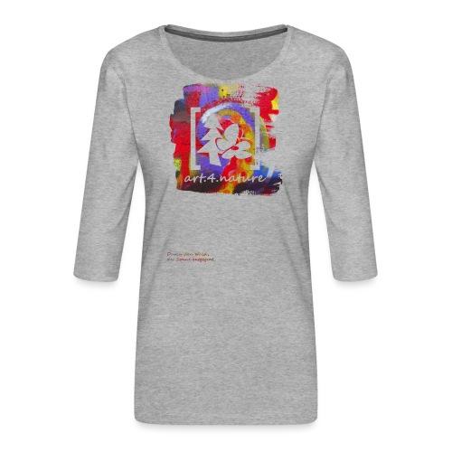 #art.4.nature / rot - Frauen Premium 3/4-Arm Shirt