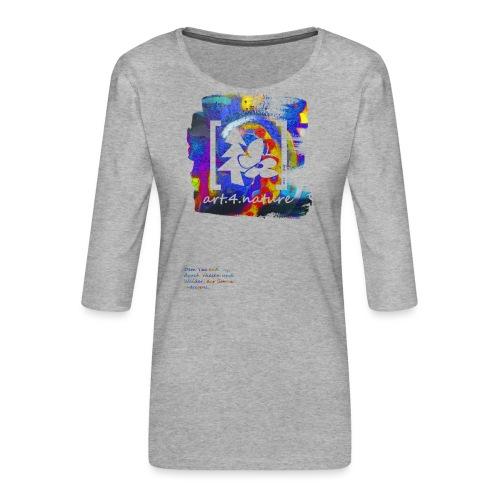 #art.4.nature / blau - Frauen Premium 3/4-Arm Shirt
