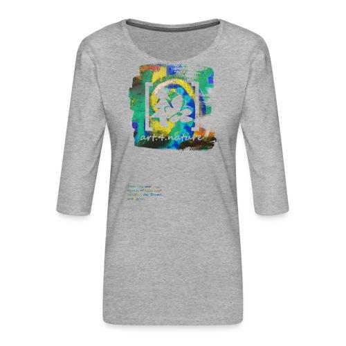 #art.4.nature / grün - Frauen Premium 3/4-Arm Shirt