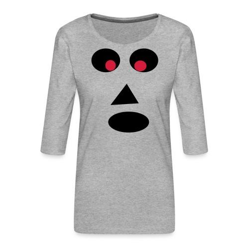 Ansigt - Dame Premium shirt med 3/4-ærmer