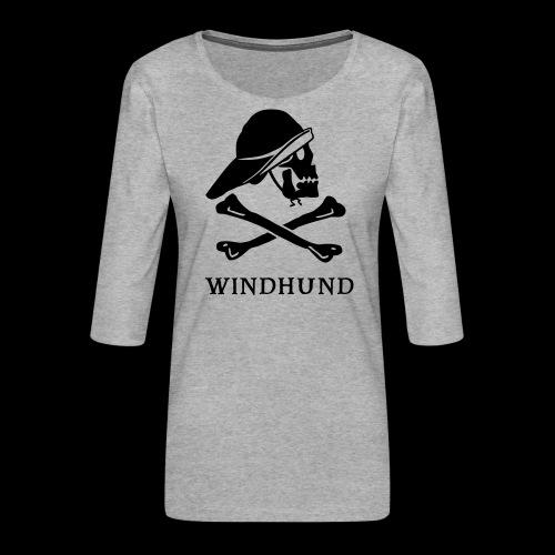 ~ Windhund ~ - Frauen Premium 3/4-Arm Shirt