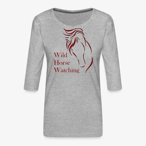 Logo Aveto Wild Horses - Maglietta da donna premium con manica a 3/4