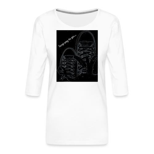 Long way to go - Women's Premium 3/4-Sleeve T-Shirt