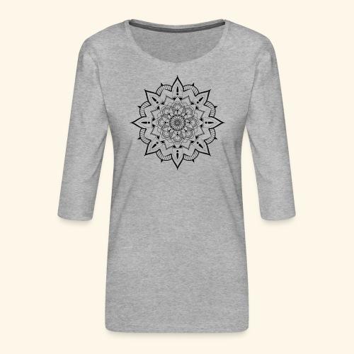 mandala - T-shirt Premium manches 3/4 Femme