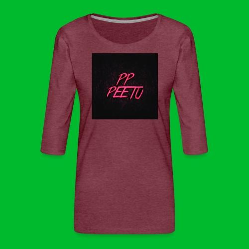 Ppppeetu logo - Naisten premium 3/4-hihainen paita