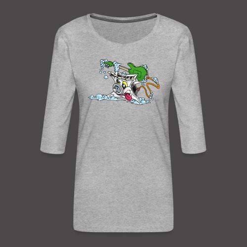 Wicked Washing Machine Wasmachine - Vrouwen premium shirt 3/4-mouw