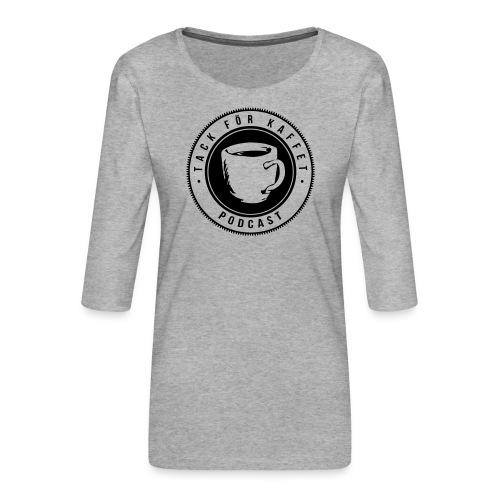 TFK logo - Premium-T-shirt med 3/4-ärm dam