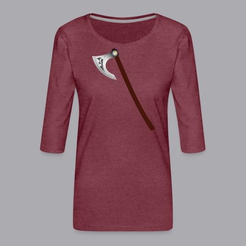 Wikinger Beil - Frauen Premium 3/4-Arm Shirt