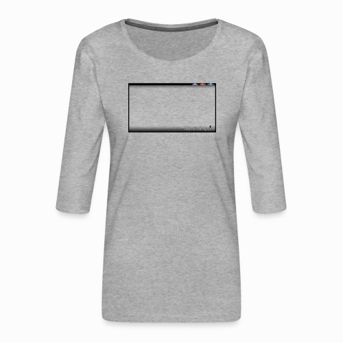 The Scots Review GO LIVE! Logo - Women's Premium 3/4-Sleeve T-Shirt
