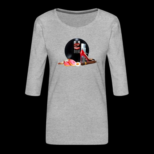Luxury Energy Drink [Cyber Glam Collection] - Women's Premium 3/4-Sleeve T-Shirt