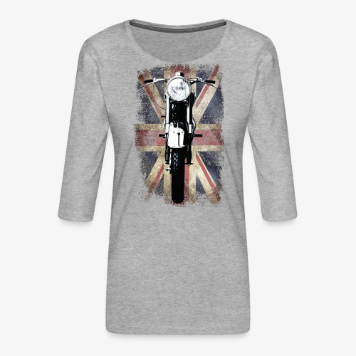Vintage Motor Cycle BSA feature patjila - Women's Premium 3/4-Sleeve T-Shirt